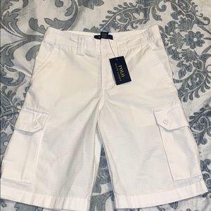 Boy's White Polo Ralph Lauren white shorts size 8